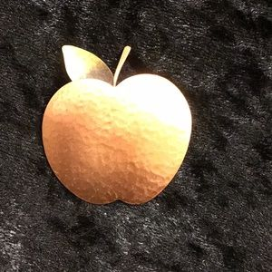 Apple For Teacher Pin Copper and Brass